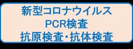 新型コロナウイルスPCR,抗原検査,抗体検査